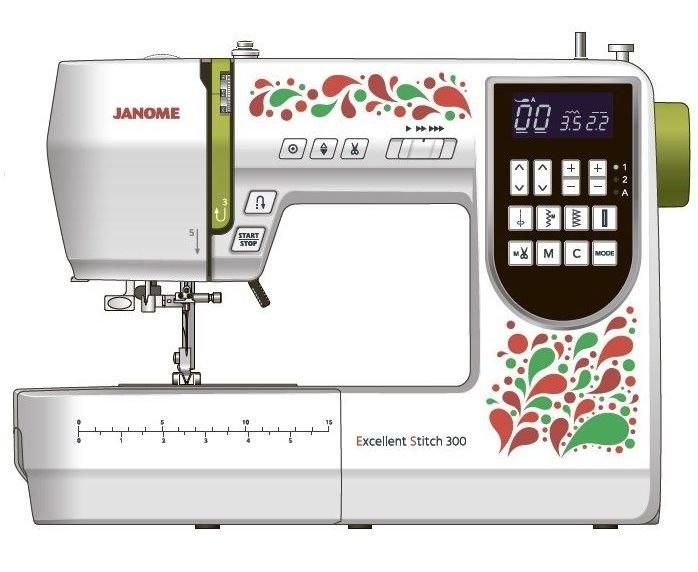 Компьютеризованная машина Janome Excellent Stitch 300.
