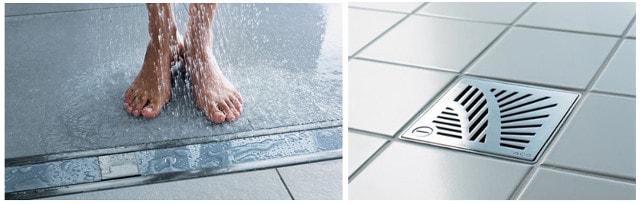 Трапы в душ – разновидности и особенности изделий